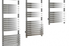 Aura Curve Designer Heated Towel Rail, Curved Flat Panel
