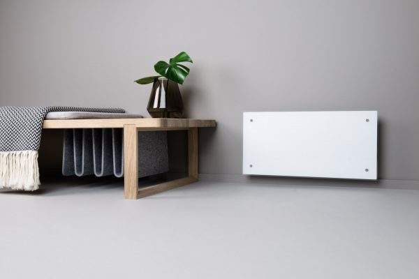 Adax Clea Wifi Smart Electric Radiator Flat Panel Convector Heater With Timer, Smartphone Control. White. Expanded