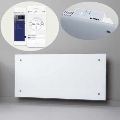 Adax Clea Wifi Smart Electric Radiator Flat Panel Convector Heater With Timer, Smartphone Control. White. Home Automation Heating