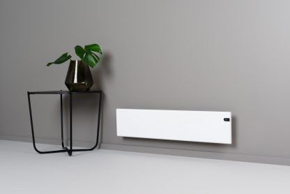 Adax Neo Low Profile Electric Panel Heater, Wall Mounted For Conservatories, With Timer, Modern