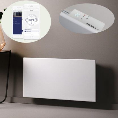 Adax Neo Wifi Smart Electric Radiator, Wall Mounted Panel Heater With Timer. White.