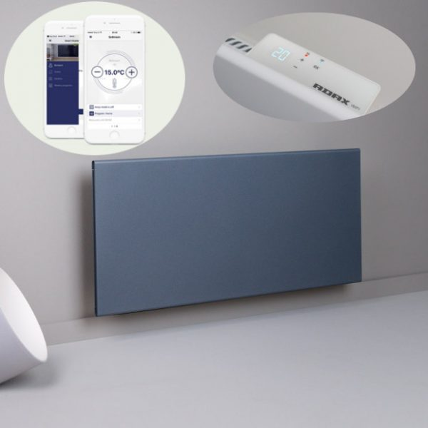 Adax Neo Wifi Smart Electric Radiator, Wall Mounted Panel Heater With Timer. Lava Grey
