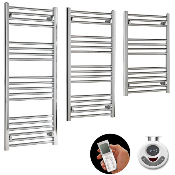 Aura 22 Budget Thermostatic Electric Towel Warmer With Timer And Remote Control. Shop For Energy Saving Cheap To Run Heated Towel Rails