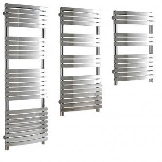 Aura Curve Heated Towel Rails, Flat Panel - Central Heating