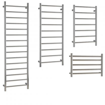 Aura Ronda Heated Towel Rails, Round Tube - Central Heating