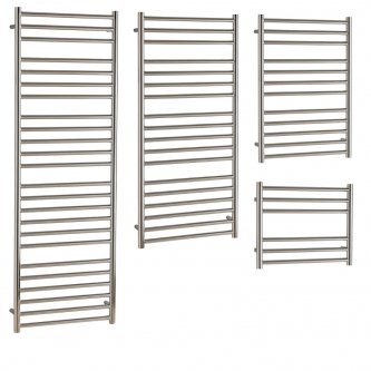 Aura Steel Stainless Steel Heated Towel Rails - Central Heating