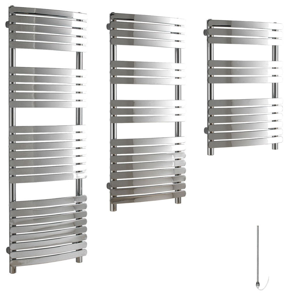 Aura Curve Flat Panel Electric Towel Warmer (Chrome