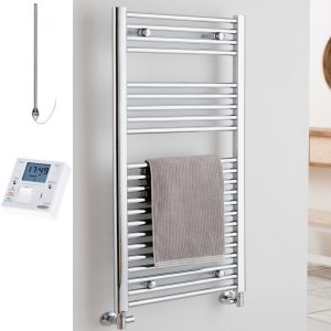 straight-chrome-heated-towel-rail-ptc-electric-fused-spur-timer