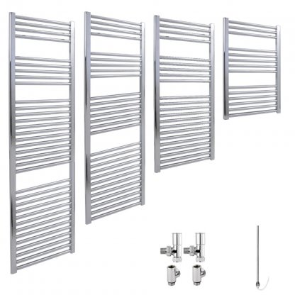 Aura 25 Straight Dual Fuel Towel Warmer (Chrome)