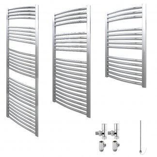 Aura 25 Curved Dual Fuel Towel Warmer (Chrome)
