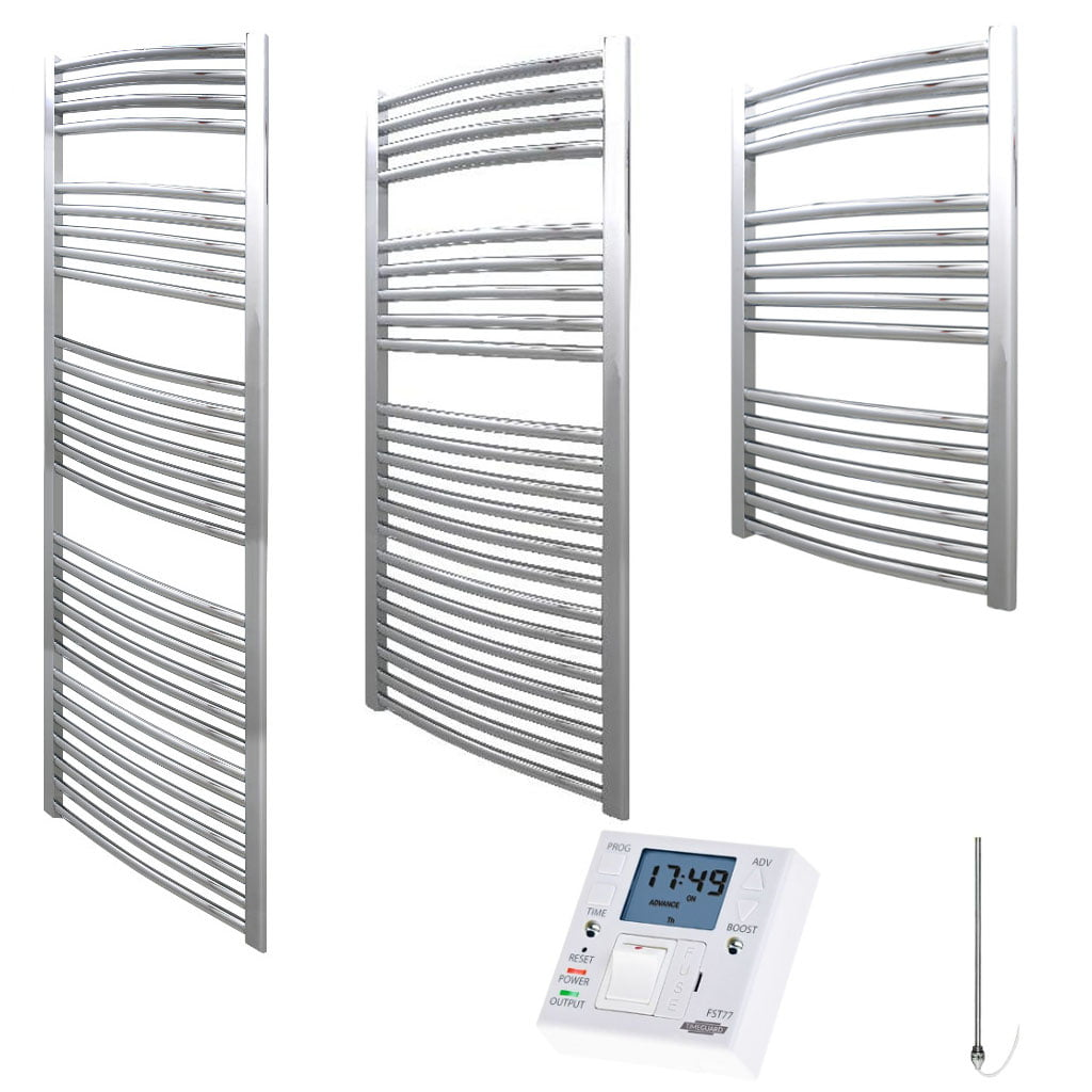Heated Towel Rail Timer Wiring Diagram: Aura 25 Curved Heated Towel Rail, Chrome