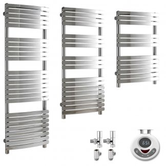 Dual Fuel Thermostatic Electric Heated Towel Rails With Timer