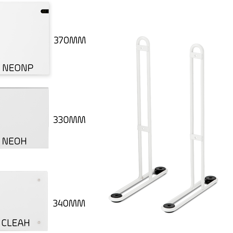 adax-standard-height-leg-brackets-neo-clea-wifi-electric-panel-heaters