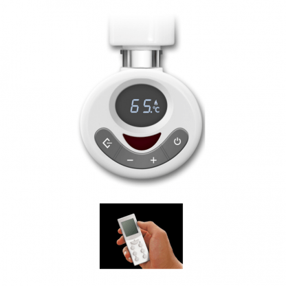 Thermostatic Element For Towel Rail, With Built-In Timer & Remote Control