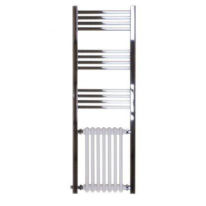 Libertas Traditional Period Column Radiator Towel Rail Black/White 1