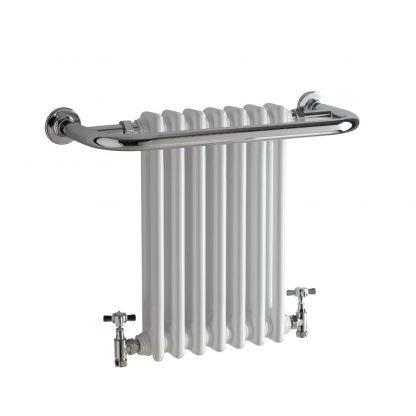 Garnet Traditional Period Column Radiator Towel Rail Black/White 2