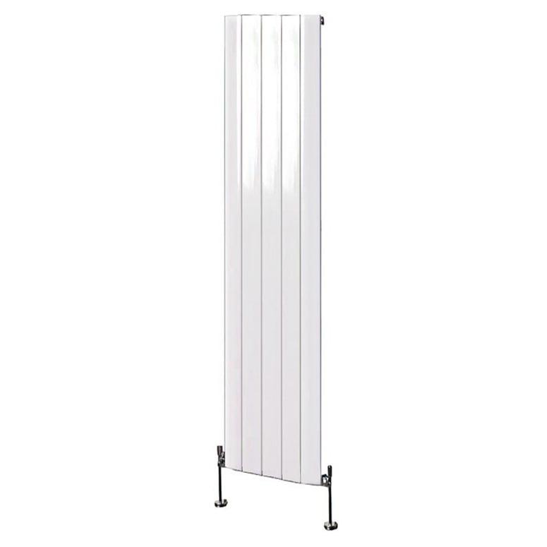 Aluminium Flat Panel Modern Vertical Radiator White