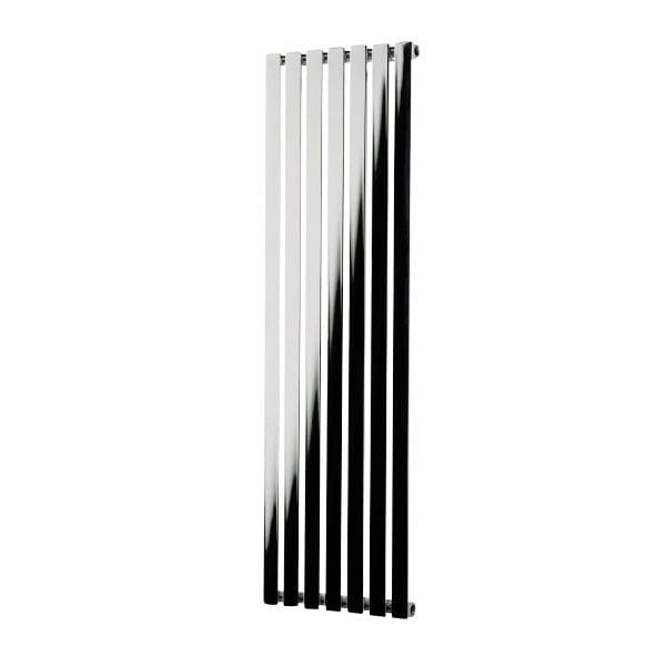 Flat Panel Modern Vertical Radiator In Chrome Black