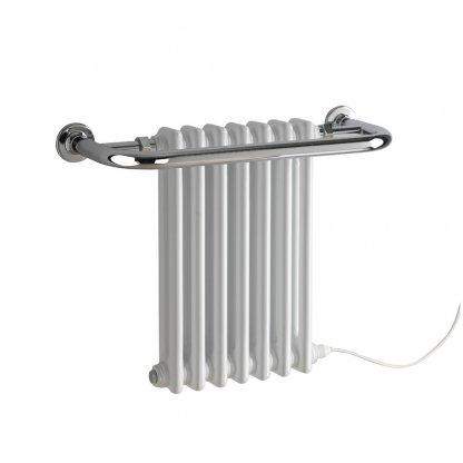Garnet Electric Traditional Period Column Radiator Towel Rail Black/White