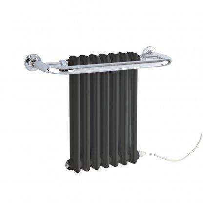 Garnet Traditional Period Column Radiator Towel Rail Black/White - Electric