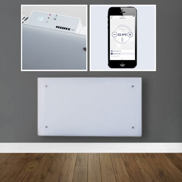Home Automation Glass Electric Panel Heater / Convector, Wall