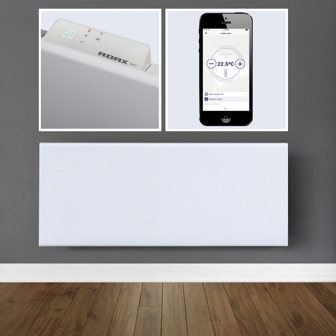 Adax Neo Wifi Electric Wall Heater With Timer Modern - Heated floor timer