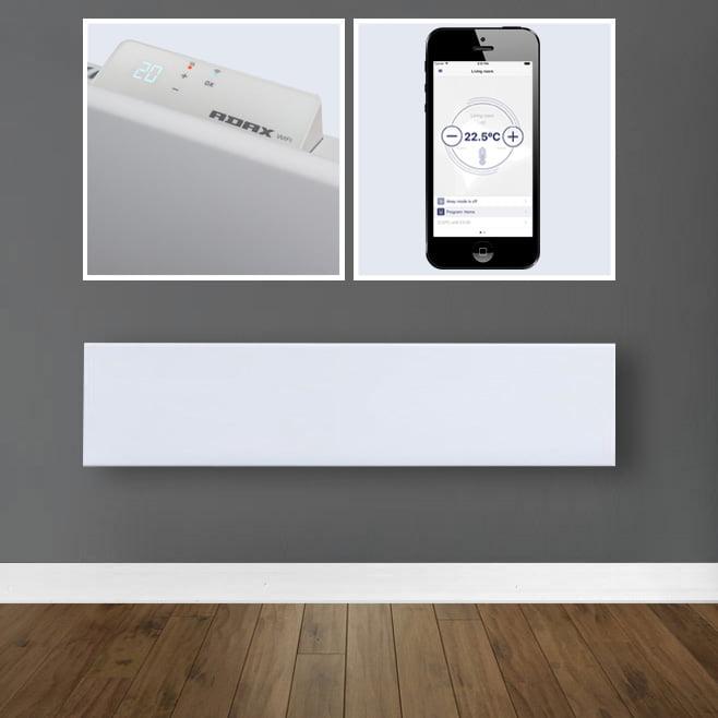 Adax Neo Wifi Low Profile Electric Wall Heater Timer Modern