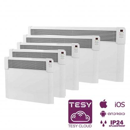 Tesy CN04 Wifi Smart Electric Heater / Convector Radiator, Wall Mounted
