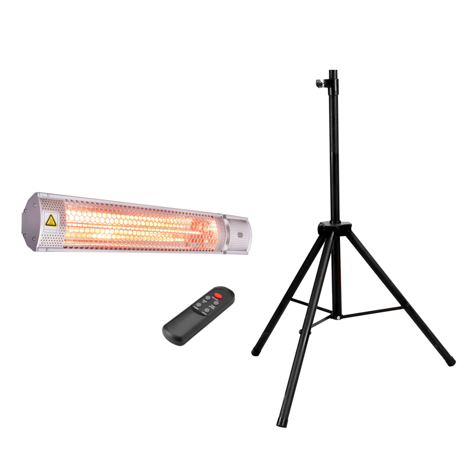 2kw budget portable infrared space heater indoor outdoor neptune - Small portable space heater paint ...
