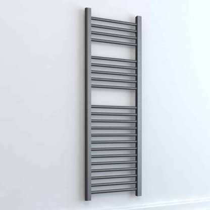 Aura 25 Straight Electric Towel Warmer. Thermostatic With Timer