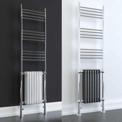 Aura Dux Traditional Towel Warmer - Central Heating