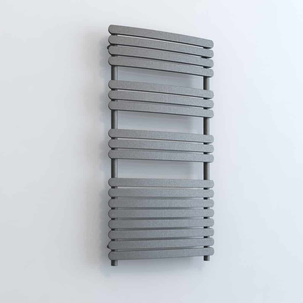 Aura Curve Flat Panel Towel Warmer - Central Heating (White / Grey ...