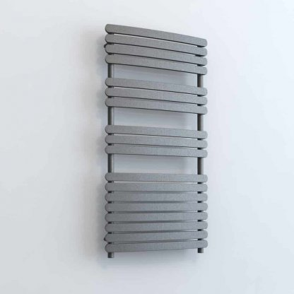 Aura Curve Flat Panel Dual Fuel Towel Warmer. Thermostatic With Timer