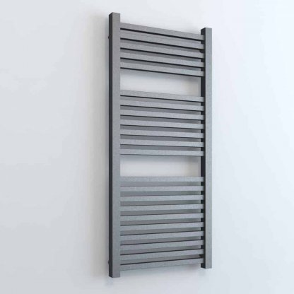 Aura Cube Square Tube Dual Fuel Towel Warmer. Thermostatic With Timer