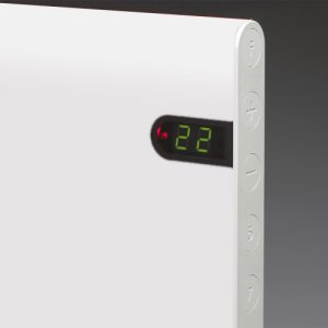 Adax Neo Low Profile Electric Wall Heater With Timer, Modern 2