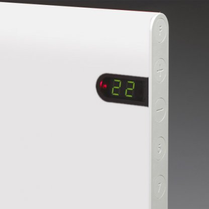 Adax Neo Low Profile Electric Wall Heater With Timer, Modern