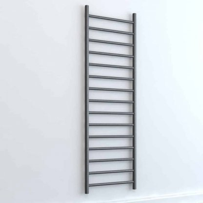 Aura Ronda Round Tube Electric Towel Warmer. Thermostatic With Timer