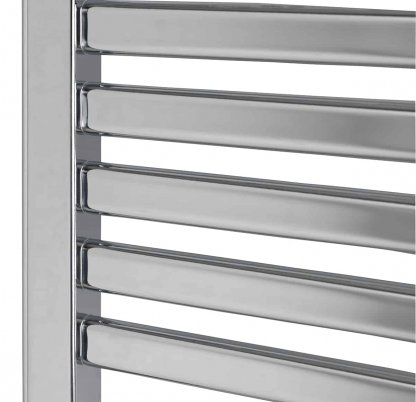 Aura Convex Curved Flat Panel Thermostatic Electric Towel Warmer With Timer (Chrome)