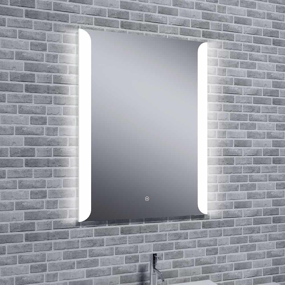 Aura Tempo Illuminated Led Mirror With Bluetooth Speakers Portrait