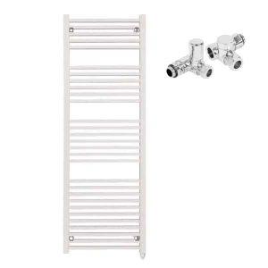 Aura Cube Square Tube Dual Fuel Towel Warmer (White)