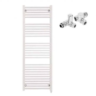 Aura Cube Square Tube Dual Fuel Towel Warmer (White)