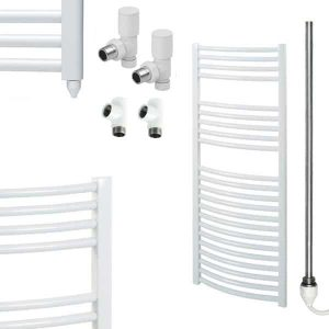 Aura 25 Curved Dual Fuel Towel Warmer (White)