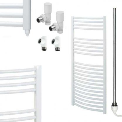 Aura 25 Curved Dual Fuel Towel Warmer (White)