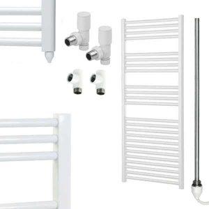 Aura 25 Straight Dual Fuel Towel Warmer (White)