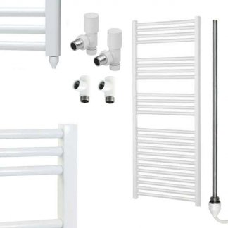 Aura 25 Straight Dual Fuel Towel Warmer (White)