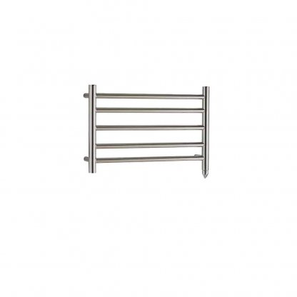 Aura Ronda Round Tube Dual Fuel Towel Warmer. Thermostatic With Timer (Chrome)
