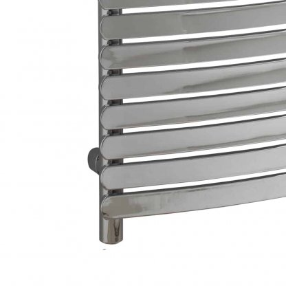 Aura Curve Flat Panel Dual Fuel Towel Warmer. Thermostatic With Timer (Chrome)