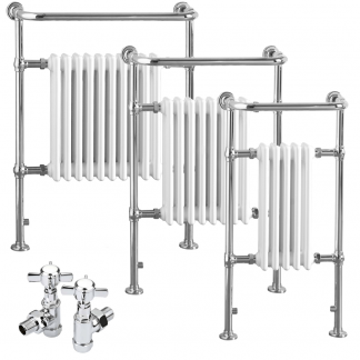 Aura Rex Traditional Dual Fuel Towel Warmer (White / Black)