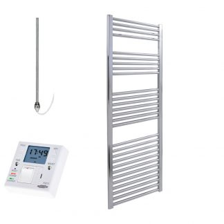 Electric Heated Towel Rails With Fused Spur Timer