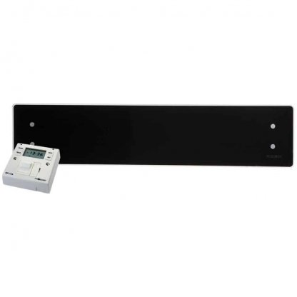 ADAX CLEA GLASS Electric Panel Heater, Low Profile + Fused Spur Timer